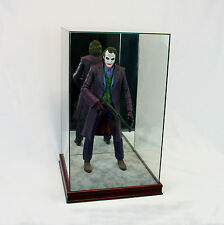 "1/4 Scale Comic Figurine Display Case 20"" Tall All Glass Cherry Sport Moulding"