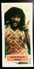 NETHERLANDS - AC MILAN - RUUD GULLIT - Score UK football trade card