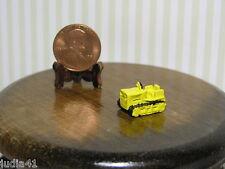 Miniature Dollhouse Yellow Toy Bulldozer