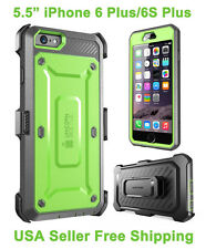 100% Genuine Supcase iPhone 6 Plus/6S Plus Full Body Rugged Holster Case Green