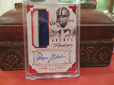 Panini Flawless Ruby On Card Autograph Jersey Cowboys  Roger Staubach 15/15 2014