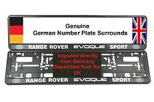 2 x NUMBER PLATE SURROUNDS LAND ROVER RANGE ROVER EVOQUE