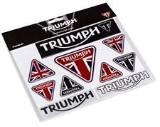 GENUINE TRIUMPH MOTORCYCLE STICKER SET UNION JACK TRIANGLE LOGO DESIGN BRAND NEW