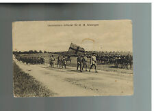 1914 Sweden RPPC Real Picture Postcard Cover to Canada Army Soldiers on parade