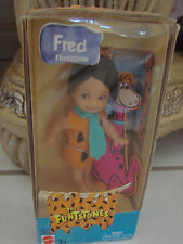 Fred Flintstone figure~Mattel/Cartoon Network The Flintstones~Dino  Kelly doll