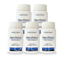 5 NervRelax Anti Depression, Anxiety and Stress Relief Pills 100% WORKS BEST !!