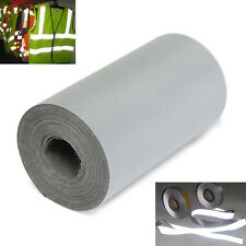 3Meter Roll Reflective Safety Hazard Silver Tape Sew On Wide 5cm/2'' Trim Fabric