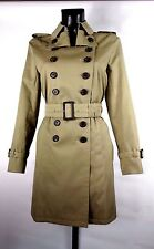 AQUASCUTUM EARTHA Trench Rain Coat DARK BEIGE SZ 8 BNWT MADE UK RRP £895