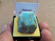 Amazonite Feldspar Crystal Blue in thumbnail Perky box from Colorado