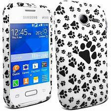 PAWS PRINT SILICONE GEL CASE COVER SKIN FOR SAMSUNG Galaxy Pocket 2 SM-G110