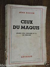 Ceux du maquis Compagnie FFI du Vercors  Jean Dacier Arthaud
