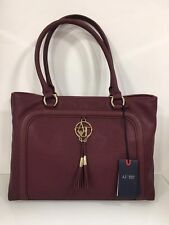 Armani Jeans Burgundy Saffiano Effect Shoulder Bag New With Tag / Dustbag