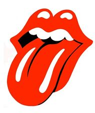 "*Rolling Stones Tongue Vinyl Bumper Sticker Decal 3.25"" Rock n Roll Hippie Biker"