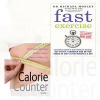 Liz Tucker & Michael Mosley Collection 2 Books Set Fast Exercise,Calorie Counter