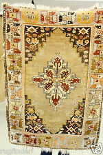 Rare Ca1900s Antique 3'7''x4'10'' Museum Qlty Wool Pile  Area Rug for Collector