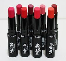 8ct NABI  Matte Lipstick Professional Selected Amazing Colors NEW #A