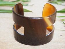 GENUINE HORN CUFF 5 CM WIDE REAL NATURAL HORN MATERIAL BRACELET BANGLE H H.BC41