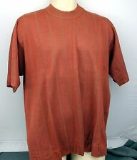 Johnston and Murphy Sweater Shirt Short Sleeved XL Rust Orange Pre-owned