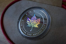 2001 Canada $5 Hologram .9999 Silver Maple Leaf with original box and COA