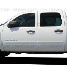 For: CHEVY SILVERADO CREW CAB; PAINTED Body Side Moldings Mouldings 2007-2013