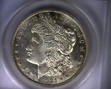 MS62 ANACS 1921 TOP 100 VAM 27 INFREQUENTLY REEDED MORGAN SILVER DOLLAR COIN