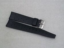 New Old Stock Black Genuine Tropic 18mm Rubber Watch Strap