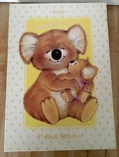 Vintage Mead Critter Sitters Morgan Montag Happiness Notecard Stationary Set NEW