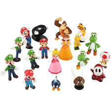18pcs Super Mario Character Bros Mini Action Figure Set Doll Toy Decor