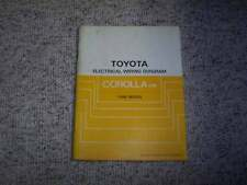 1986 Toyota Corolla FR Electrical Wiring Diagram Manual DX LE SR5 GTS 1.6L 4Cyl
