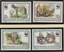 BURUNDI, 1992 WWF Serval **, FDC, Maximk., (8651)