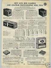 1940 PAPER AD Afga Box Camera Shur Shot Special Regular Plenachrome Film