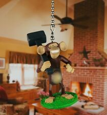 Madagascar Mason Phil Chimpanzee Ceiling Fan Pull Light Lamp Chain Decor