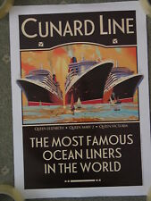 CUNARD 3 QUEENS - MOST FAMOUS LINERS IN THE WORLD POSTER - 30 X 42CM