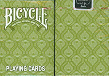 BICYCLE PEACOCK PLAYING CARDS in GREEN