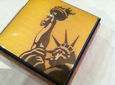 "Reuge Music ""Stature Of Liberty"" Hand Crafted Music Box-""God Bless America"""