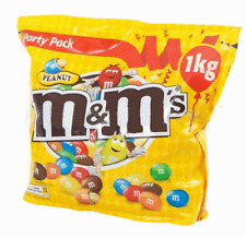 2 x 1Kg Bags of M&M's Chocolate Covered Peanuts Party Size m&ms M&M's Nuts 2KG