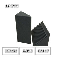 12PCS Corner Bass Trap Acoustic Studio Foam in Black Color