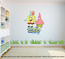 Personalized SpongeBob Squarepants Wall Decal (Removable and Replaceable)