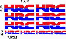 KIT 10 ADESIVI HRC MOTO CASCO STICKERS
