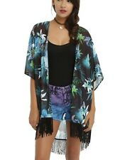 Disney Lilo & Stitch Tropical Print Sheer Kimono Size Small New With Tags!