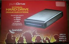 "ACOMDATA USB 2.0 eSATA FIREWIRE 3.5"" SATA HARD DRIVE CASE ENCLOSURE NEW"