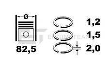 Jeu de segments / Piston Ring Kit - VW AUDI SEAT SKODA 2,0 2,8 i / TOYOTA 1,3 i