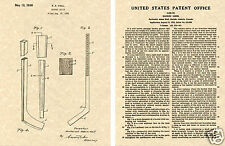 HOCKEY STICK US PATENT Art Print READY TO FRAME!! Vintage 1936 Hall NHL Ice