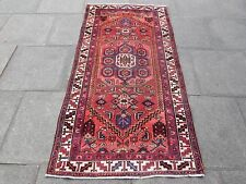 Old Traditional Hand Made Rugs Persian Wool Red Oriental Rug  207x103cm