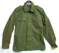 *CZECHOSLOVAKIA CZECH REPUBLIC ARMY 1991 NEW OD GREEN COTTON JACKET COAT / SMALL