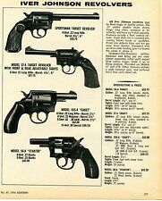 1976 Print Ad of Iver Johnson Sportsman 57-A Target 55S-A Cadet & 56-A Revolver