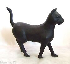 Vintage Cast Iron Black Cat Bank Coin Piggy Bank Door Stop 7 1/2'' Tall x 9''