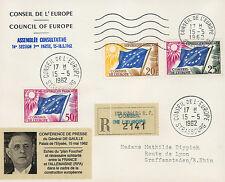 """CE14-Ia FDC RECO Conseil Europe """"DE GAULLE - Amitié Franco-allemande"""" 1962"""