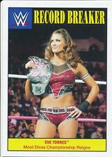 #14 EVE TORRES 2016 Topps WWE Heritage RECORD BREAKER MOST DIVA CHAMP REIGNS