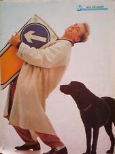 NICK HEYWARD 'traffic sign and dog' magazine PHOTO/Poster/clipping 11x8 inches